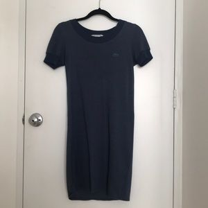 Lacoste T-shirt dress in navy size 32